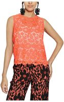 Maurizio Pecoraro Cotton Lace and Silk Crepe De Chine Top - Lyst