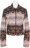 Missoni Multicolor Cropped Jacket in A Blend Of Wool - Lyst