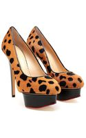Charlotte Olympia Polly Ponyskin Court Shoes - Lyst