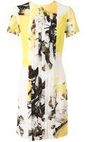 Christopher Kane Floral Printed Silk Dress - Lyst