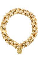 Philippe Audibert Stone Encrusted Bracelet - Lyst