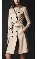 Burberry Prorsum Double Cotton Trench Coat - Lyst