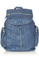 Topshop Washed Multi Zip Backpack - Lyst
