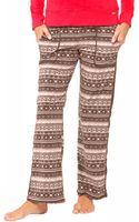 DKNY Fair Isle Fleece Pajama Pants - Lyst