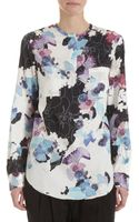 3.1 Phillip Lim Ribbed Floral Moto Jacket - Lyst