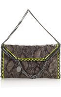 Stella McCartney Python Triple Handle Bag - Lyst