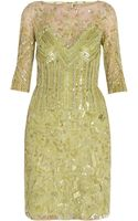 Elie Saab 34 Sleeve Fully Beaded Dress - Lyst