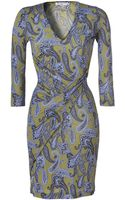 Etro Oliveviolet Printed Jersey Dress - Lyst