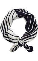 Brooks Brothers Silk Optical Illusion Scarf - Lyst