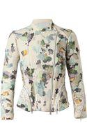 3.1 Phillip Lim Corded Silk Biker Jacket - Lyst