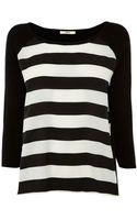 Oasis Bold Stripe Woven Front Jumper - Lyst