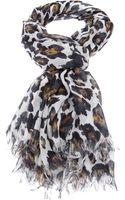 Stella McCartney Leopard Print Scarf - Lyst