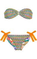 Missoni Reversible Crochet Knit and Printed Bandeau Bikini - Lyst