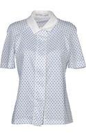Peter Som Short Sleeve Shirt - Lyst