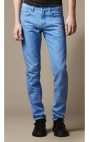Burberry Shoreditch Coated Color Skinny Fit Jeans - Lyst