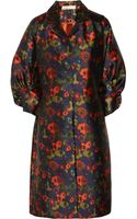 Lela Rose Printed Satin Coat - Lyst