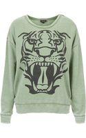 Topshop Printed Sweatshirt - Lyst