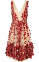 Valentino Heavy Lace Dress in Redscarletruby - Lyst
