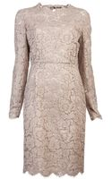 Valentino Tonal Lace Dress - Lyst