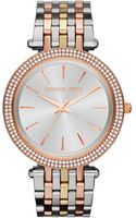 Michael Kors Midsize Threetone Stainless Steel Darci Glitz Watch - Lyst