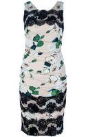 Dolce & Gabbana Printed Lace Dress - Lyst