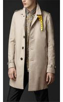 Burberry Prorsum Metallic Undercollar Trench Coat - Lyst