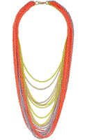 Topshop Mega Neon Chain Necklace - Lyst