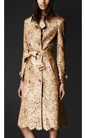 Burberry Prorsum Lasercut Leather Trench Coat - Lyst
