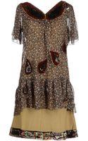 Replay Raglan Sleeves Short Dresses - Lyst