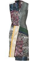 Preen By Thorton Bregazzi Multicolored Python Patchwork Dress - Lyst