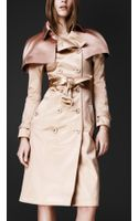 Burberry Prorsum Caped Trench Coat - Lyst