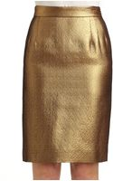 Moschino Cheap & Chic Woven Metallic Pencil Skirt - Lyst