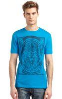 Versace Jeans Textured Dot Logo Tshirt - Lyst