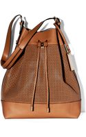 Vince Camuto Perf Drawstring Bag - Lyst