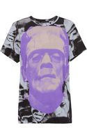 Christopher Kane Monsterprint Cotton Tshirt - Lyst
