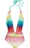 Missoni Crochetknit Swimsuit - Lyst
