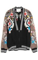 3.1 Phillip Lim Flower Print Bomber Jacket - Lyst