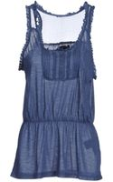 Tommy Hilfiger Denim Sleeveless Top - Lyst