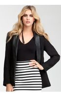 Bebe Shawl Collar Jacket - Lyst