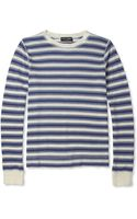 Dolce & Gabbana Striped Cotton Blend Sweater - Lyst