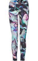 J Brand Hydrangea Print Power Stretch Jeans - Lyst