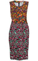 Marc Jacobs A Line Floral Print Dress - Lyst