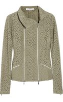 Nicole Farhi Broderie Anglaise Cotton Jacket - Lyst