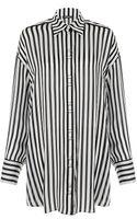 Balmain Stripe Silk Shirt - Lyst