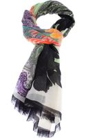 Etro Paisley and Flower Print Scarf - Lyst