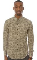 Naked & Famous The Slim Buttondown Shirt in Camo Twill  - Lyst