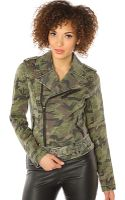 Tripp Nyc The Camo Twill Moto Jacket - Lyst