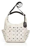 Diane Von Furstenberg Chalk Leather Franco Pyramid Stud Shoulder Bag - Lyst