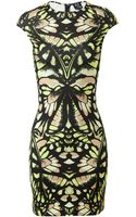 McQ by Alexander McQueen Dragonfly Printed Stretch-jersey Dress - Lyst
