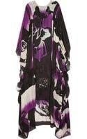 Emilio Pucci Lace Embellished Silk Blend Chiffon Kaftan - Lyst